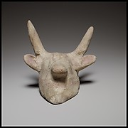 Terracotta mask in the form of a bull