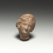 Terracotta female head