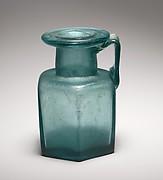 Glass hexagonal bottle