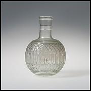 Glass globular bottle