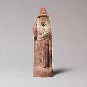 Terracotta statuette of Isis or a follower of her cult