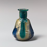 Glass gold-band mosaic bottle
