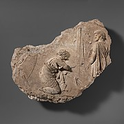 Stucco relief fragment