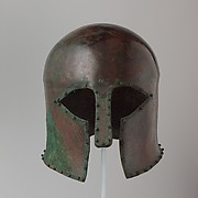 Bronze helmet of Corinthian type