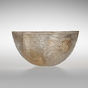 Glass bowl decorated with geometric patterns