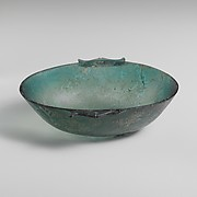 Oval glass bowl