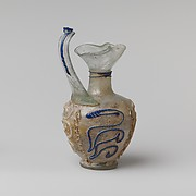 Glass jug (oinochoe) with snake-thread decoration