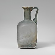 Glass square bottle