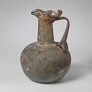 Glass jug with trefoil rim