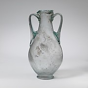 Glass amphora
