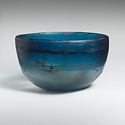 Glass hemispherical bowl
