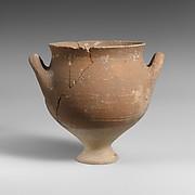 Terracotta deep skyphos (drinking cup)