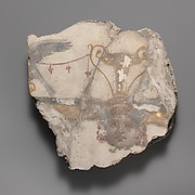 Wall painting fragment with Gorgon mask