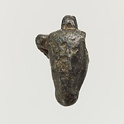 Steatite (?) pendant in the form of a bull's head