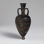 Terracotta amphoriskos (oil flask)