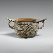 Terracotta skyphos