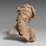 Terracotta fragment with the upper body of a bearded man