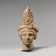 Terracotta head of a young man