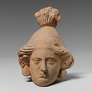 Terracotta head of a woman
