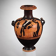 Terracotta kalpis (water jar)
