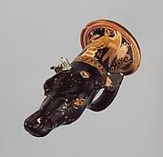 Terracotta rhyton (vase for libations or drinking)