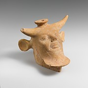 Vase in the form of a head of Acheloos