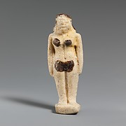 Faience statuette of a woman