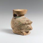 Faience aryballos (oil flask) in the form of a hedgehog