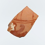 Fragment of a terracotta lid