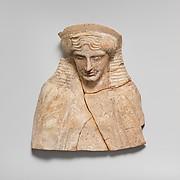 Terracotta bust of a man