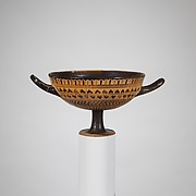 Terracotta kylix: Cassel cup (drinking cup)