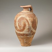 Terracotta jug with spirals