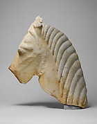 Marble head of a horse