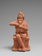 Terracotta statuette of an actor