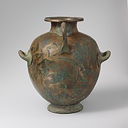 Bronze hydria: kalpis (water jar)