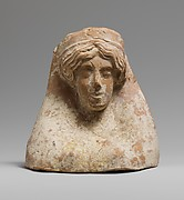 Terracotta relief with the head of a woman