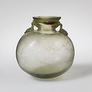 Glass aryballos (oil bottle)
