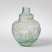 Glass flask decorated with intersecting circles