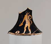 Neck of a terracotta oinochoe (jug)