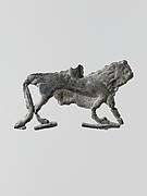 Lead figure of a lion