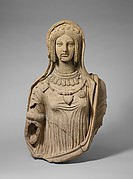 Terracotta statue of a young woman