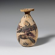 Terracotta alabastron (perfume vase)