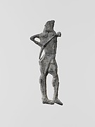 Lead figure of an archer
