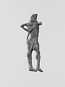 Lead figure of an archer