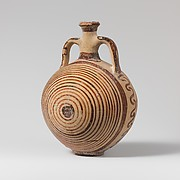 Terracotta lentoid flask