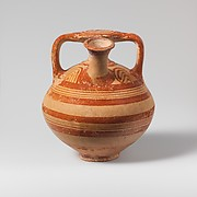 Terracotta stirrup jar