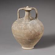 Terracotta stirrup jar