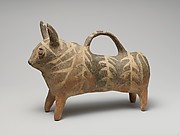 Terracotta vase in the form of a bull