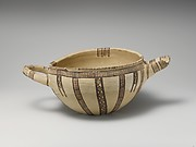 Terracotta two-handled bowl