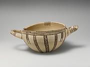 Terracotta two-handled bowl